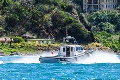 Pilot Boat underway in BVI Royalty Free Stock Image