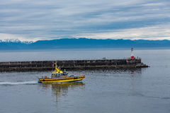 Pilot Boat  in Victoria Stock Photo