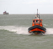 Pilot boat and waverley paddle steamer Stock Photo