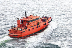 Pilot boat. On the way to operation Stock Image