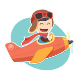 Pilot Boy Sticker Stock Photography