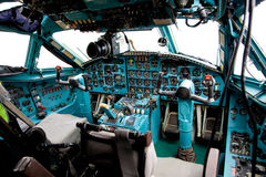 Pilot cabin interior Royalty Free Stock Images