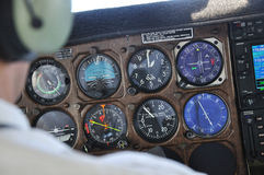 All you need to know. Pilot checks the instrument panel of a light aircraft Stock Photos