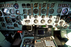 Pilot cockpit Stock Image