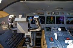 Pilot cockpit Stock Image