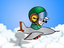 Pilot communication Stock Photography