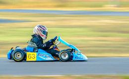 Pilot competing in National Karting Championship Royalty Free Stock Image