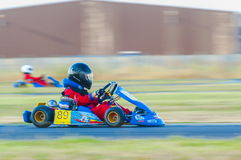Pilot competing in National Karting Championship Royalty Free Stock Photos