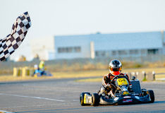 Pilot competing in National Karting Championship Stock Photo