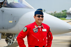 Pilot der indonesischen Luftwaffe. Stockfotografie