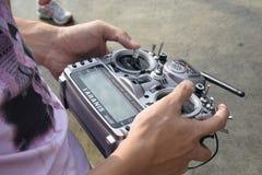 Pilot Do TV Powietrznej kamery Latający truteń Obrazy Stock