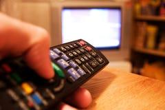 Pilot do TV tv Fotografia Stock