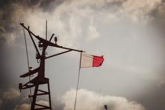Pilot- flagga på en mast Royaltyfri Bild