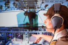 Pilot- flygbolag Arkivbild
