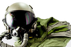 Pilot- flygdräkt för militär Royaltyfri Foto
