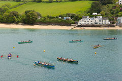Free Pilot Gig Racing Rowing Event At Salcombe Devon England Uk On Sunday 31st May 2015 Royalty Free Stock Photography - 54880877