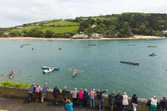 Free Pilot Gig Racing Rowing Event At Salcombe Devon England Uk On Sunday 31st May 2015 Stock Photography - 54881022