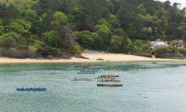 Free Pilot Gig Racing Rowing Event At Salcombe Devon England Uk On Sunday 31st May 2015 Stock Photos - 54881163