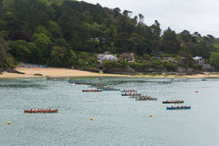 Pilot Gig Racing rowing event at Salcombe Devon England uk on Sunday 31st May 2015 Stock Images