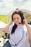 Pilot girl Stock Photography
