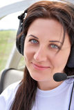 Pilot girl Royalty Free Stock Photos