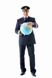 The pilot of a globe Royalty Free Stock Photography