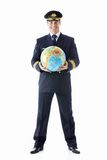 The pilot of a globe Stock Photography