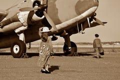 Pilot going off to war Stock Photos