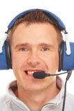 Pilot with headset Royalty Free Stock Photography