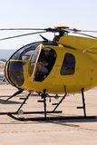 Pilot in helicopter Stock Images