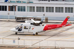 Pilot helicopter in Durban Stock Images