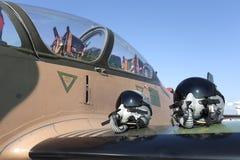 Pilot helmets Stock Photography