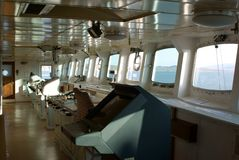 Pilot house. On the vessel Stock Photography