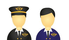 Pilot icons Stock Photos