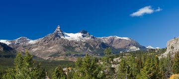 Pilot and Index Peaks Panorama, Beartooth Highway, USA Royalty Free Stock Photos