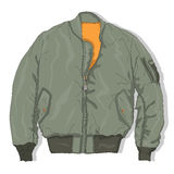 Pilot jacket. Bomber. Vector. Royalty Free Stock Photography