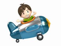 Pilot kid Stock Photo