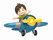 Pilot kid Stock Image