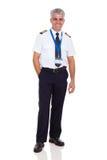 Pilot- likformig för flygbolag Fotografering för Bildbyråer