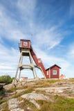 Pilot lockout at Smogen, Sweden. Royalty Free Stock Images