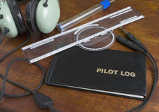 Pilot log Stock Photo