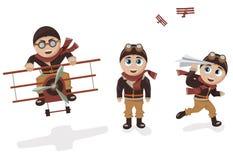 Pilot Mascot Royalty Free Stock Photo