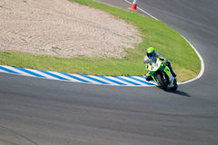 Pilot of motorcycling of Formula Extreme in the Spanish champion Stock Images