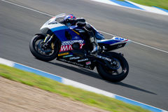 Pilot of motorcycling of Supersport in the CEV Royalty Free Stock Photography