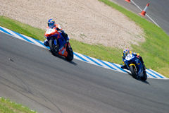 Pilot of motorcycling of Supersport in the Spanish championship Royalty Free Stock Photography