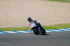 Pilot of motorcycling of Supersport in the Spanish championship Royalty Free Stock Photo