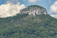 Pilot Mountain big Pinnacle. Or pilot Mountain knob, pilot Mountain Pinnacle is 2421 feet above sea level. Located in Surry County North Carolina, pilot Royalty Free Stock Photography