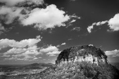 Pilot Mountain, NC. The knob at the summit of pilot mountain Royalty Free Stock Images