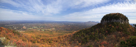 Pilot Mountain Panorama Stock Image