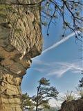 Pilot-Mountain State Park-Felsen-Wand lizenzfreies stockbild